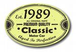 Distressed Aged Established 1989 Aged To Perfection Oval Design For Classic Car External Vinyl Car Sticker 120x80mm
